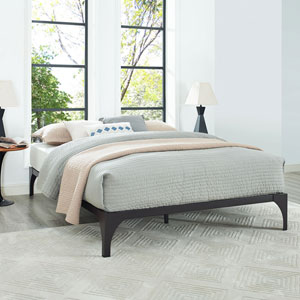 Ollie Queen Bed Frame in Brown