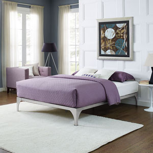 Ollie Queen Bed Frame in Silver