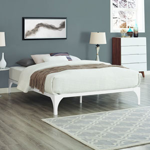 Ollie King Bed Frame in White