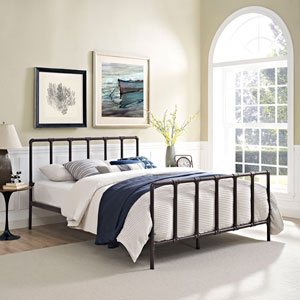 Dower Full Bed in Brown