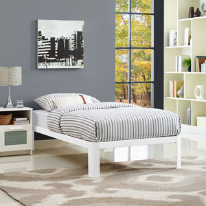 Corinne Twin Bed Frame in White