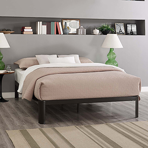 Corinne Full Bed Frame in Brown