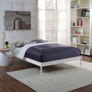 Elsie Full Fabric Bed Frame in White