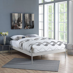Elsie Queen Stainless Steel Bed Frame in Gray