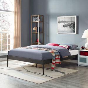 Elsie King Fabric Bed Frame in Brown