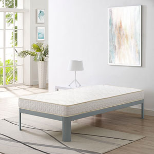 Emma 6-inch Twin Mattress in White