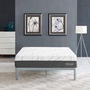 Elysse King CertiPUR-US® Certified Foam 12-inch Gel Infused Hybrid Mattress in White