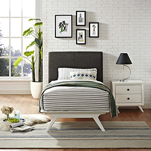 Tracy Twin Bed in White Brown