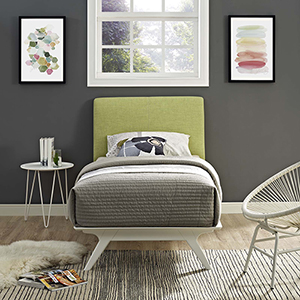 Tracy Twin Bed in White Green