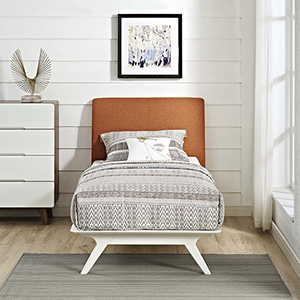 Tracy Twin Bed in White Orange
