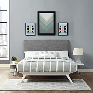 Tracy 3 Piece Queen Bedroom Set in White Gray