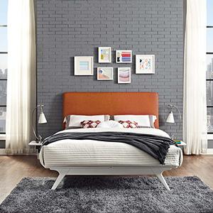 Tracy 3 Piece Queen Bedroom Set in White Orange