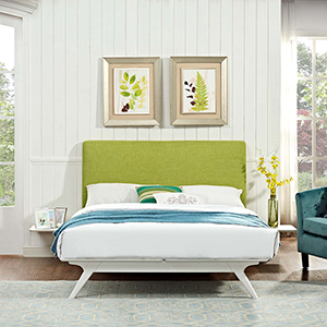 Tracy 3 Piece King Bedroom Set in White Green