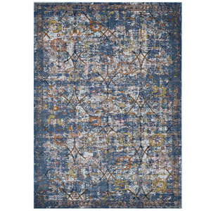 Minu Distressed Floral Lattice 4x6 Area Rug