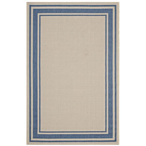 Rim Solid Border Borderline 5x8 Indoor and Outdoor Area Rug
