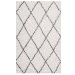 Toryn Diamond Lattice 8x10 Shag Area Rug