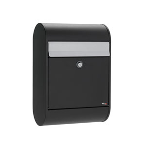 Allux Series 5000 Black Locking Mailbox with Gray Flap
