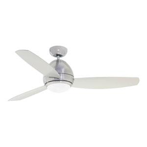Curva Brushed Steel 52-Inch LED Indoor Ceiling Fan