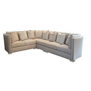 Madison Natural Cerused Oak Upholstered Sectional