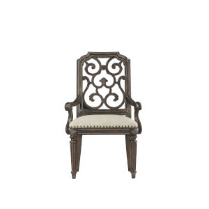 Vintage Salvage Makers 42-Inch Tristan Fret Back Arm Chair, Set of Two