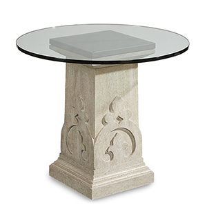 Arch Salvage Cirrus Keyes Martini Table with Glass