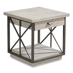 Arch Salvage Mist Burton End Table Mist
