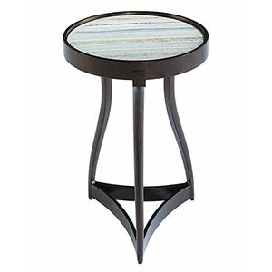 Geode Tumbled Bronze Quartz Martini Table