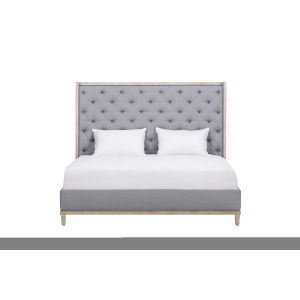 Anna Jordan Weathered Oak Upholstered California King Bed