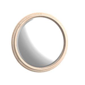 Kirby Susanna Weathered Oak Round Mirror