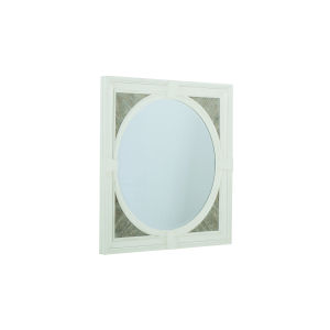Summer Creek Scrubbed Oak and Harbor White 42-Inch Looking Glass Mirror