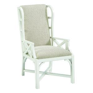 Summer Creek Harbor White 43-Inch Stickwork Garden Arm Chair