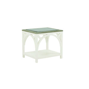 Summer Creek Scrubbed Oak and Harbor White 22-Inch Spinnaker End Table