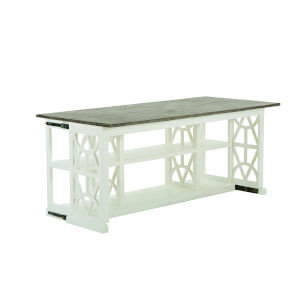 Summer Creek Scrubbed Oak and Harbor White 70-Inch Oriental Club Console