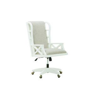 Summer Creek Harbor White 48-Inch Stickwork Garden Office Chair
