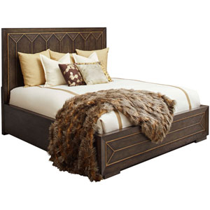 Woodwright California King Brown 84-Inch Eichler Panel Bed