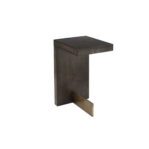 Woodwright Brown 13-Inch Ennis Accent Table