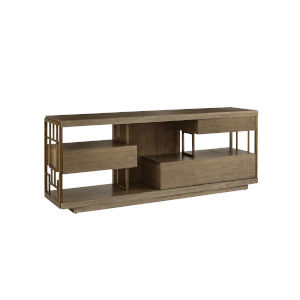 Woodwright Champagne 79-Inch Neutra Entertainment Console