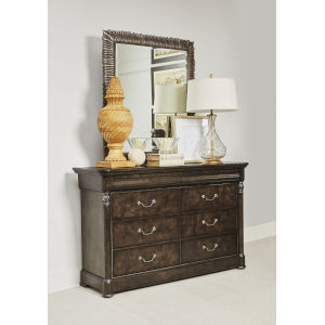 Landmark Mocha 47-Inch Carved Mirror