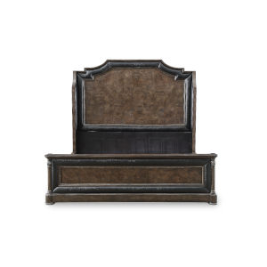 Landmark Mocha 69-Inch Queen Mansion Bed