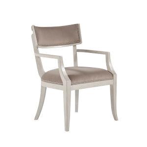La Scala Ivory 35-Inch Klismos Arm Chair, Set of Two
