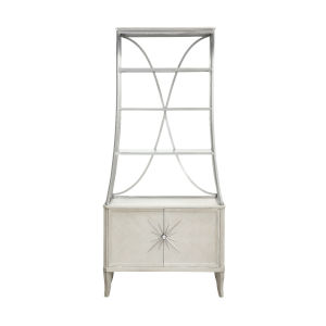 La Scala Ivory and Nickel 60-Inch Etagere