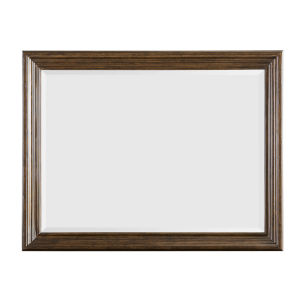 Kingsport Medium Oak 48-Inch Bevel Mirror