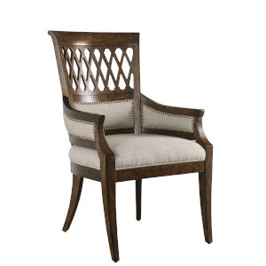 Kingsport Medium Oak 41-Inch Arm Chair