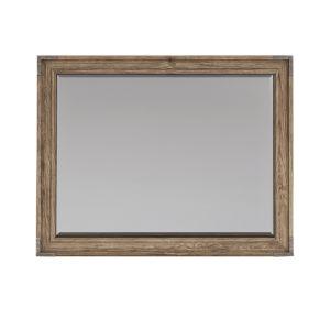Passage Light Oak Wall Mirror