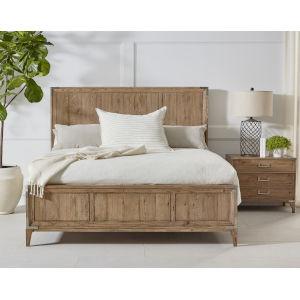 Passage Light Oak King Bed
