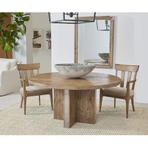 Passage Light Oak Round Dining Table