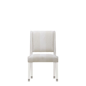 Epicenters 33127 Upholstered Gloss White 38-Inch Side Chair