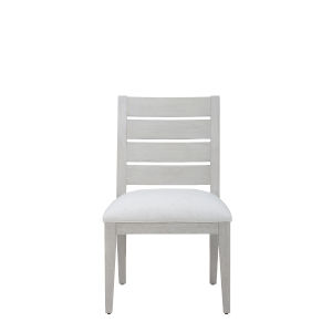 Epicenters 33127 Upholstered Dry Gray 36-Inch Luke Slat Back Side Chair, Set of Two
