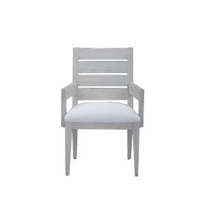 Epicenters 33127 Upholstered Dry Gray 36-Inch Luke Slat Back Arm Chair