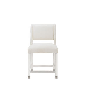 Epicenters 33127 Upholstered Gloss White 38-Inch Leia Counter Chair